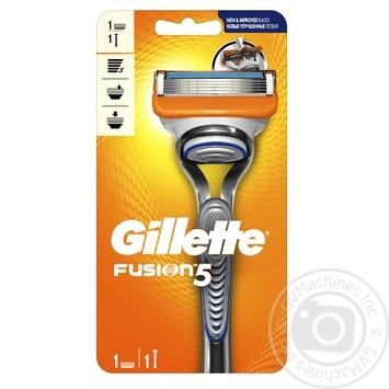 Бритва Gillette Fusion5 с 1 сменным картриджем - купить, цены на Novus - фото 1