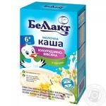 Каша Беллакт молочна кукурудзяно-вівсяна з грушею для дітей від 6 місяців 200г