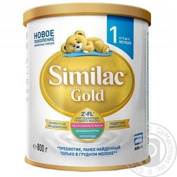Суміш молочна Similac Gold 1 суха с 1 до 6 місяців 800г - купити, ціни на Ашан - фото 1