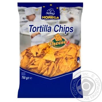 Чіпси Horeca Select Tortilla кукурудзяні зі смаком сиру 750г - купити, ціни на Метро - фото 1