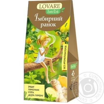 Чай Lovare herbs Імбирний ранок 20*1,8г - купити, ціни на МегаМаркет - фото 1