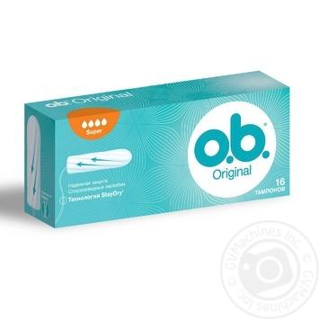 O.B. Original Super Tampons 16pcs - buy, prices for Novus - image 1