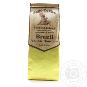 Кава натуральна смажена мелена вищого гатунку в/у Brazil Yellow Bourbon200г
