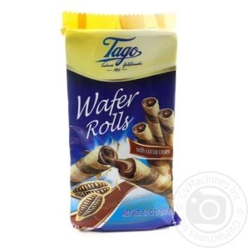 Трубочки вафельные Tago с какао-кремом 150г