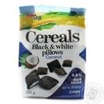 Подушечки зернові чорно-білі з кокосовою начинкою Bona vita 250г м/у