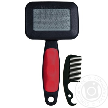 Trixie Small Brush + Comb for Cats 13.5x7cm - buy, prices for CityMarket - photo 1
