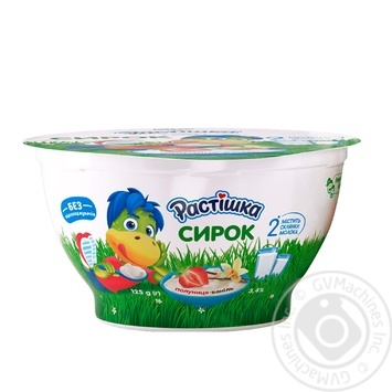 Rastishka strawberry-vanilla cottage cheese 3.4% 125g - buy, prices for CityMarket - photo 1