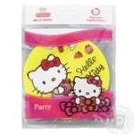 Тарілки паперові Hello Kitty Eventa d=18 см, 6 шт