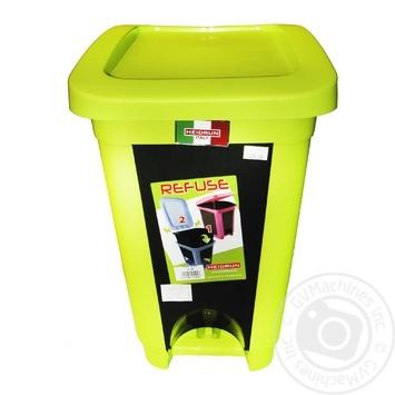 Відро Heidrun Refuse для сміття з кришкою та педаллю 30л кольори в асортименті - купити, ціни на МегаМаркет - фото 1