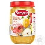 Puree Semper pear for children from 5 months 190g glass bottle