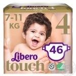 Подгузник  Libero Touch для детей 7-11кг 46шт.