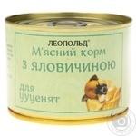 Корм М`ясний корм з телятини для цуценят ж/б 190г