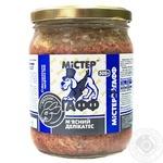 Корм для собак Містер Гафф М'ясний делікатес Кролик 500г - купити, ціни на МегаМаркет - фото 1