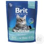 Корм сухий Brit Premium ягня для котів з чутливим травленням 1.5кг