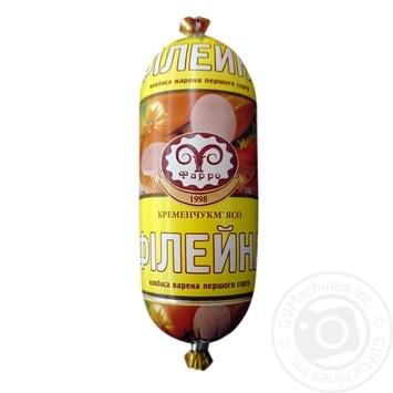 Колбаса Фарро Филейная вареная первый сорт 450г - купить, цены на Фуршет - фото 1