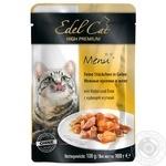 Корм пауч для котів Edel Cat курка-качка в желе 100г