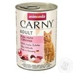 Консерва для котів Карні індичка та креветка 200г