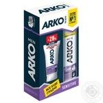 Подарочный набор ARKO Men Пена для бритья Sensitive 200мл + Крем после бритья Sensitive 50мл