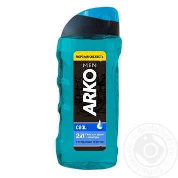 Гель для душа и шампунь Arko Cool 2в1 300мл - купить, цены на Ашан - фото 1