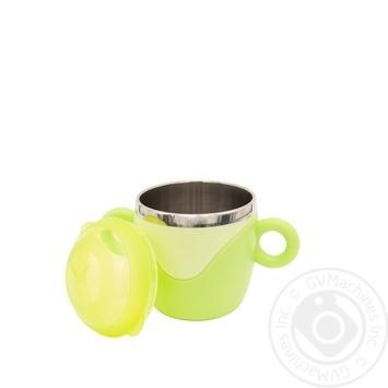 Чашка з кришкою та ручками, з нержавіючої сталі Baby Team - купить, цены на Novus - фото 3