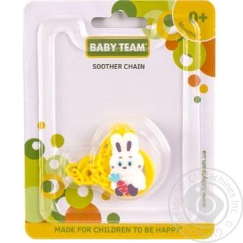 Цепочка для пустышки Baby Team Зверюшки в ассортименте