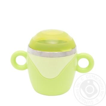 Чашка з кришкою та ручками, з нержавіючої сталі Baby Team - купить, цены на Novus - фото 2