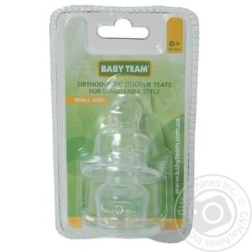 Соска Baby Team силиконовая ортодонтическая 2шт - купить, цены на Фуршет - фото 3