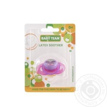 Baby Team Pacifier Latex Orthodontic 3200 - buy, prices for Furshet - image 1