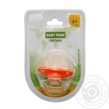 Пустышка-прорезыватель Baby Team - купить, цены на Novus - фото 2