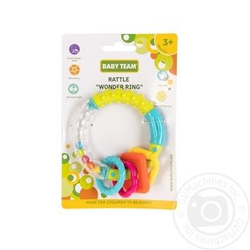 Игрушка-погремушка Baby Team Чудо-кольцо - купить, цены на Novus - фото 1