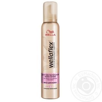 Мусс для волос WELLAFLEX для чувствительной кожи головы сильной фиксации 200мл - купить, цены на МегаМаркет - фото 1