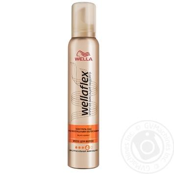 Мусс для волос WELLAFLEX Контроль над непослушными волосами экстрасильной фиксации 200мл