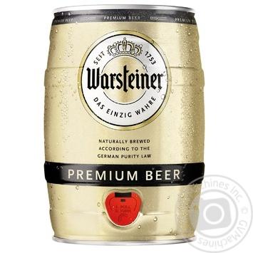 Пиво Warsteiner Premium світле 4,8% з/б 5л