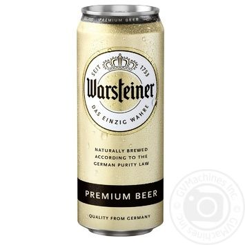 Пиво Warshteiner Premium светлое ж/б 4.8% 0,5л - купить, цены на Восторг - фото 2