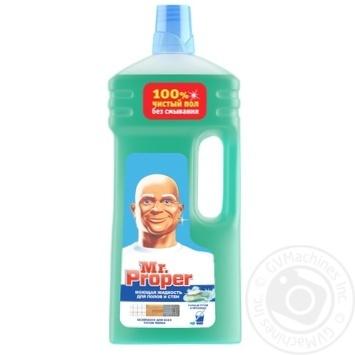 Средство для мытья Mr. Proper Горный источник и прохлада 1,5л - купить, цены на МегаМаркет - фото 1
