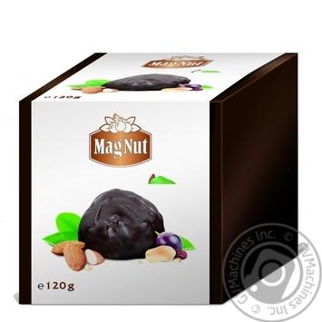Конфеты MagNut Chocks с арахисом и миндалем 120г