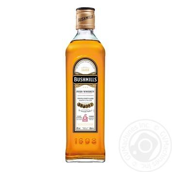 Bushmills triple distilled irish whiskey 40% 0,5l