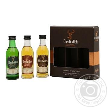Віскі Glenfiddich Mix Pack 3х0,05 л кор. 40%