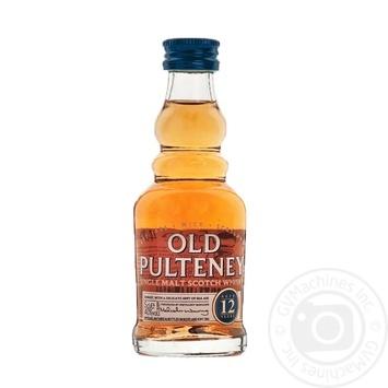 Віскі Old Pulteney 12y.o 0.05л
