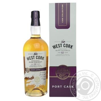 Віскі West Cork Port Cask 12лет 43% 0,7л