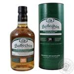 Виски Ballechin 10лет 46% 0.7л
