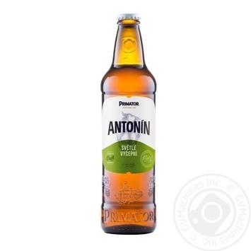 Пиво Primator Antonin светлое фильтрованное 4% 0,5л