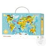 Пазл Мапа Світу Тваринки DoDo 300133 80 елементів