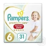 Трусики Pampers Premium Care 15+ кг 6 Extra large 31шт - купить, цены на Метро - фото 1
