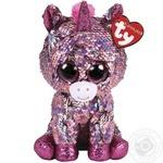 Іграшка м'яконабивна TY FLIPPABLES Рожевий єдиноріг SUNSET 25см