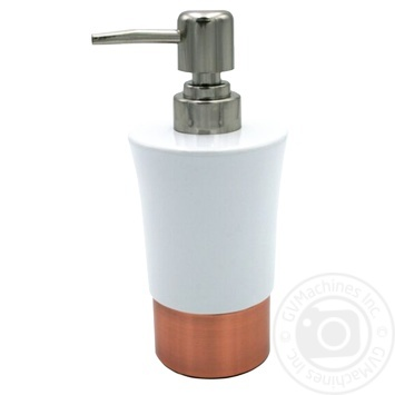 Дозатор для мила Рига керамич/мідь d  8 см H 18 см