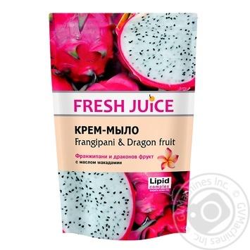 Мило рідке Fresh Juice Frangip&DragonFruit дойпак 460мл - купити, ціни на МегаМаркет - фото 1