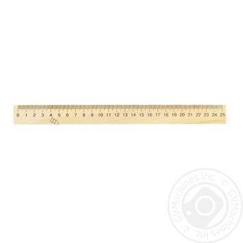 Линейка деревянная Мицар 250мм 126239 - купить, цены на Фуршет - фото 1