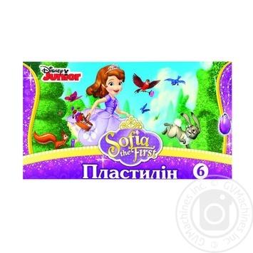 Пластилін Софія 6 кольорів Мицар 251809 105г - купити, ціни на Фуршет - фото 1