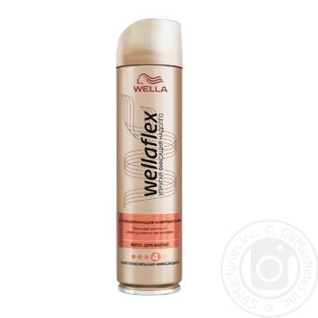 Лак для волос Wellaflex экстрасильная фиксация с увлажняющим комплексом 250мл - купить, цены на Таврия В - фото 1